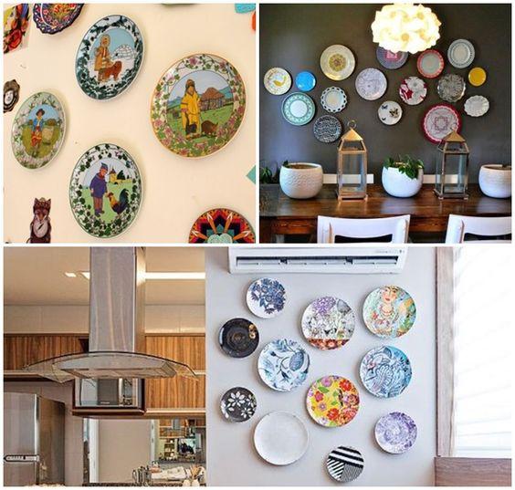 decoração de parede pratos -                                                                                                                                                      Mais