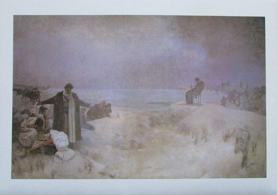 Alfons Mucha JAN AMOS KOMENSKY LEHRER DER NATION Reproduktion tschechische Kunst