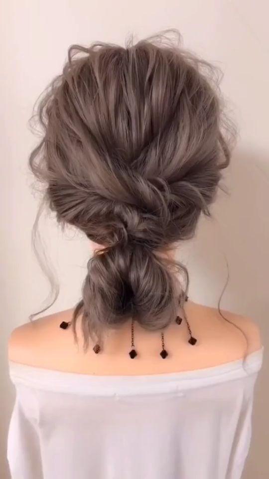 Easy Hairstyles For Curly Hair Videos In 2020 Easy Hairstyles Hair Hair Tutorial