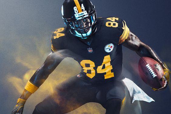 The Steelers have released an image of their 2016 Color Rush uniform...the team will wear their Color Rush uniforms when they host the Baltimore Ravens on Dec. 25, and while red and green might be the color of the day, the Steelers will be the men in black.
