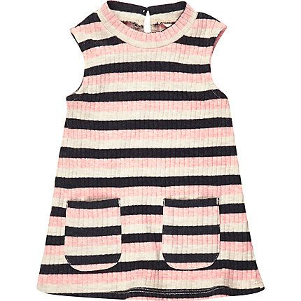 Mini girls pink stripe sleeveless dress 18,00 €