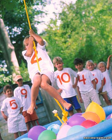 obstacle course birthday party