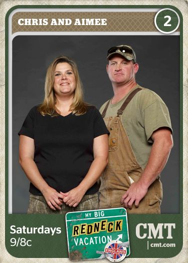 Unlock the 'Chris and Aimee' card from the My Big Redneck Vacation Redneck Games on Facebook!