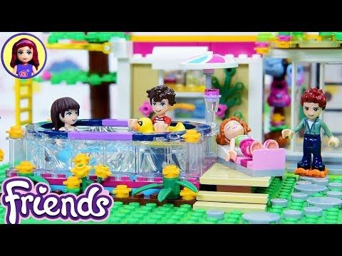 Custom Lego Friends Backyard With Pool Sophie Henry House Renovations Continue Diy Youtube Lego Friends Backyard Makeover Diy Backyard Pool