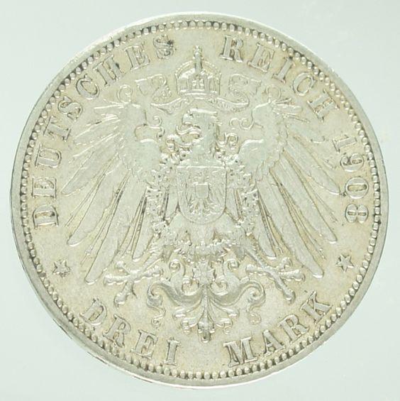 ALEMANHA (Império, Prússia), moeda de prata, 3 Mark, 19..