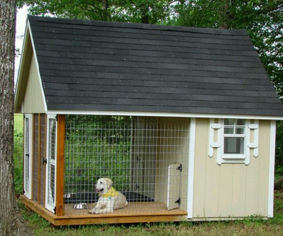 Dog house. They can go on the porch or inside to get away from the heat or rain! Plus no mud! Love it!!!