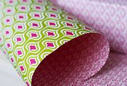 adore this pink and lime wrapping paper!