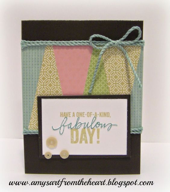card with scraps by Amy Moore