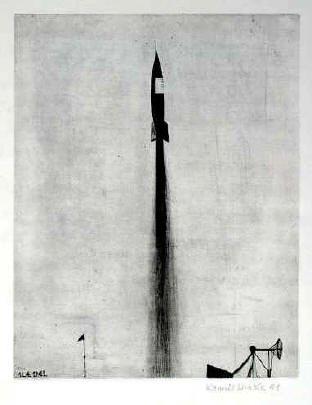 Kamil Lhoták - dry point, 1961