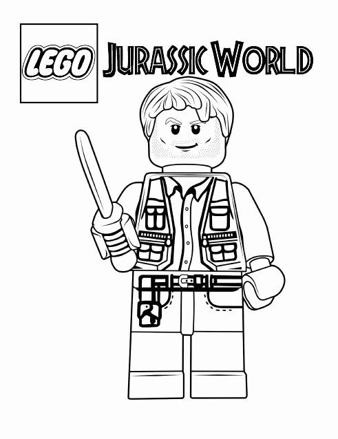 Jurassic Park Coloring Page Awesome Jurassic World Coloring Pages Best Coloring Pages For Kids In 2020 Lego Coloring Pages Lego Coloring Lego Jurassic World