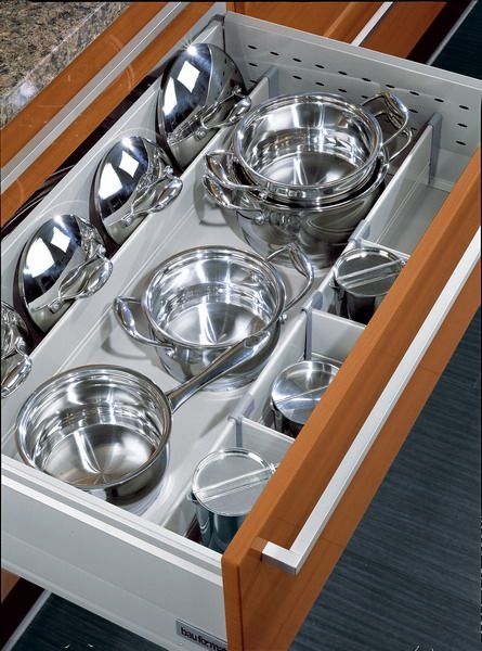 Bauformat kitchen cabinets: drawer dividers for big items http ...