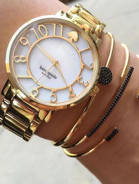 Kate Spade 'gramercy' mother-of-pearl bracelet watch - Nordstrom