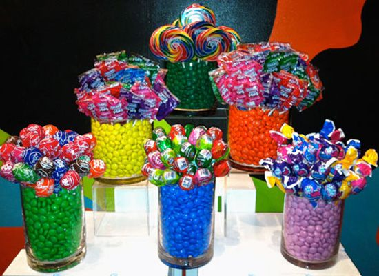 Candy tables for parties centerpieces