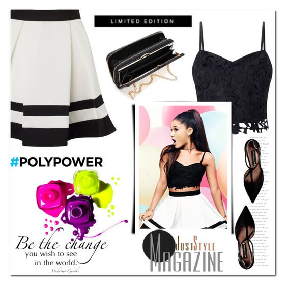 """be the change"" by kriz-nambikatt ❤ liked on Polyvore featuring Lipsy, Steve Madden and PolyPower"