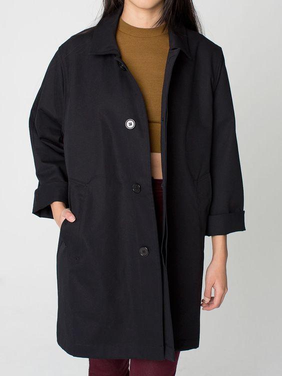 Unisex Cotton Twill Car Coat | American Apparel | American Apparel