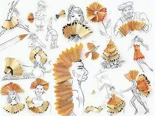 Pencil shaving creativity