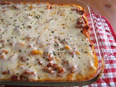 Baked Ziti:  Pizza Pie, Easy Recipe, Yummy Food, Baked Ziti, Ground Beef Recipe, Main Dishes, Rigatoni Recipe, Country Cook, Dinner Recipe