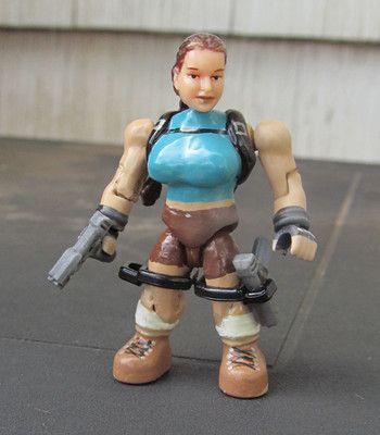 Mega Bloks custom action figure halo minifigure marvel Lara Croft Tomb Raider