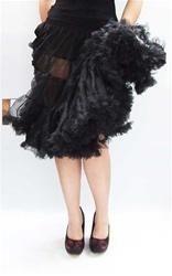 Long Black Ruffle Petticoat - StyleSays