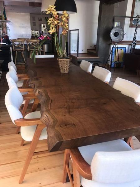 Mesa Rustica De Jantar Com Bordas Organicas 10 Lugares Modelo