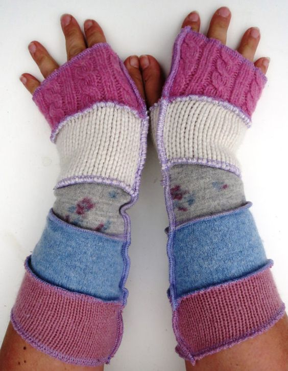 Upcycled Adult Armwarmers