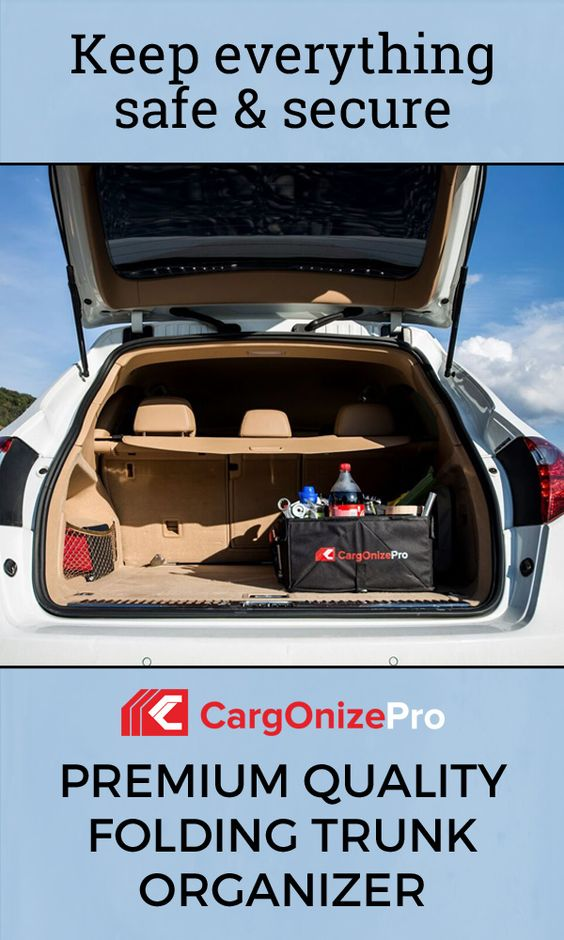 Smart and intelligent. Simple to use. With CargOnizePro auto trunk organizer, gone are the days of rooting through an unkempt trunk or leaning over into the trunk to grab the loose groceries!: