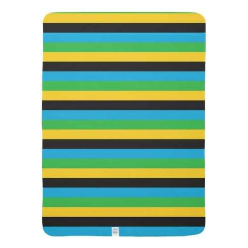Tanzania Flag Stripes Color Lines Pattern Baby Blanket Color Lines Line Patterns Personalized Custom