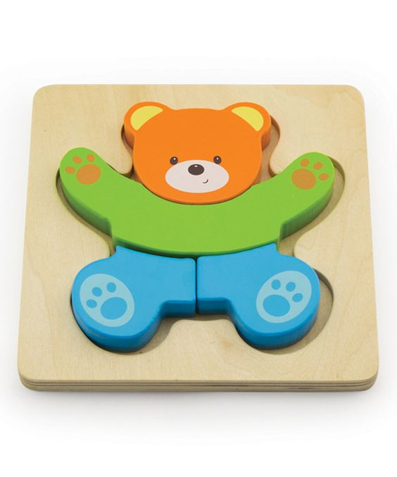 Look at this Wooden Teddy Bear Block Puzzle on #zulily today!