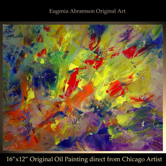 ORIGINAL PAINTINGS direct from artist: 40 more are available in my 3 eBay stores, the links to my stores are below, I hope you will find something you like.  http://myworld.ebay.com/chicago_art_studio http://myworld.ebay.com/abramsonfineart http://myworld.ebay.com/eugenia_abramson_art  Thank you, Eugenia Abramson