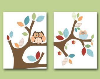 Baby Nursery Decor Art for Children Kids Wall Art por artbynataera