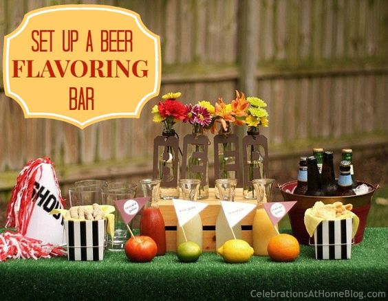 beer-flavoring-bar #beertasting #footballparty