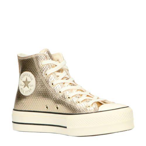 Chuck Taylor All Star Lift Hi plateau sneakers slangenprint