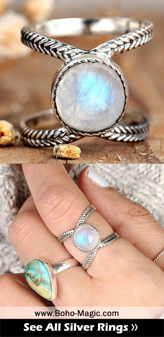 Boho Simple Ring with Stone Rainbow Moonstone Ring Sterling Silver Rings for Women Birthstone Teardrop Gemstone Ring Jewelry
