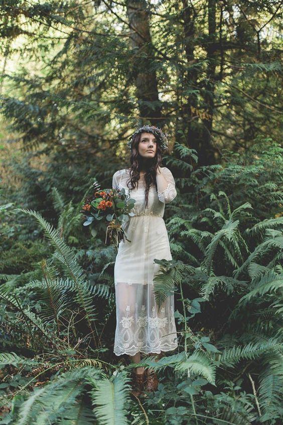 Boho bridal style | Image by Irinart Photography: