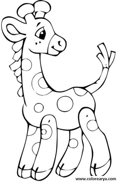 dibujos colorear jirafa (30).jpg  manualidades infantil ...