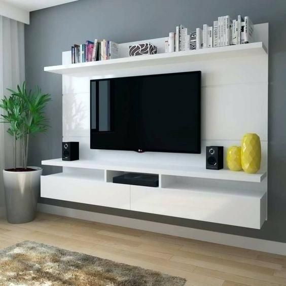 Tv Wall Mounts With Shelves Glass Shelf Above Below Under Mou On