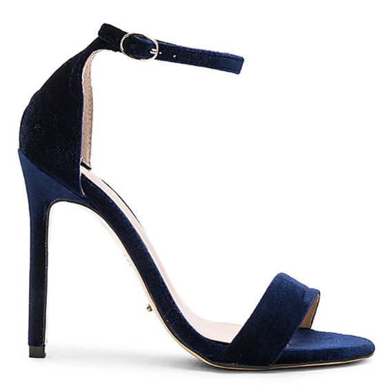 Beautiful navy velvet sandal