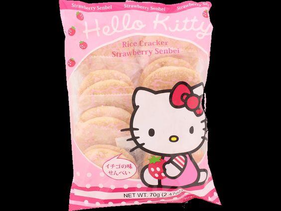 Hello Kitty Rice Cracker Strawberry Senbei