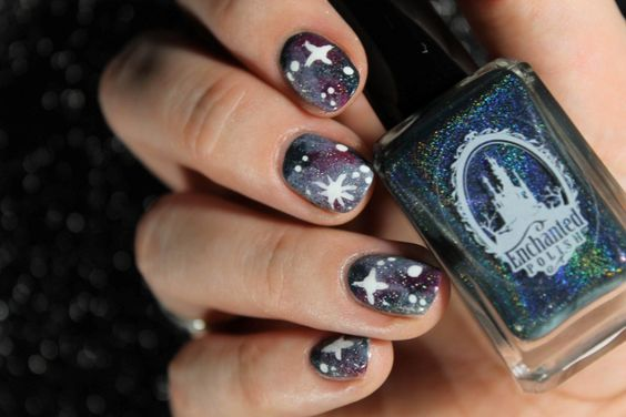 Galaxy nails Linry's Review Enchanted Polish