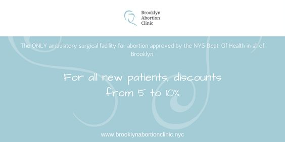 Brooklyn Abortion Clinic is the only NYS approved Ambulatory surgical center dedicated to women's health in Brooklyn. Our mission is to treat each woman as a whole person, addressing her physical and emotional needs. We are located in the heart of Downtown Brooklyn, close to Park Slope, Red Hook, Prospect Park, Brooklyn Heights with easy access from Manhattan. We are happy to announce a limited time event, 5 to 10% off for all new patients.