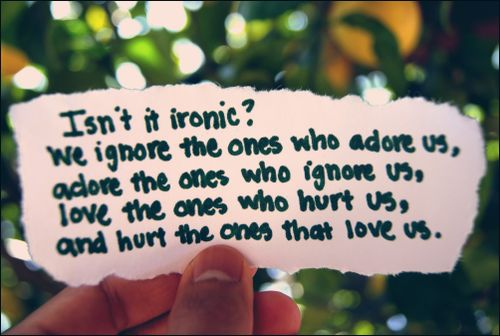 It is ironic huh?