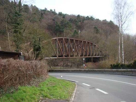 Eisenbahnbrücke Unterreichenbach  Bogenbrücke, Fachwerkbrücke, Stahl