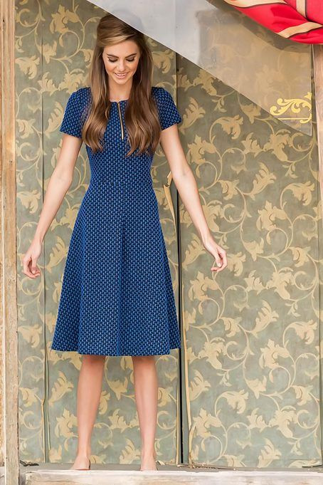 Outback Dress - Beautiful- Retro style and Black and blue