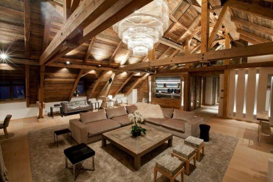 Rustikale Maisonette-Wohnung holz decke balken offen gestaltet-bo - decke aus rustikalen balken wohnung bilder