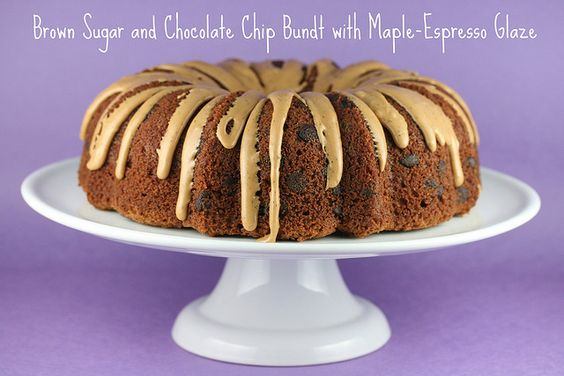 Brown Sugar and Chocolate Chip Bundt with Maple-Espresso Glaze - I ...