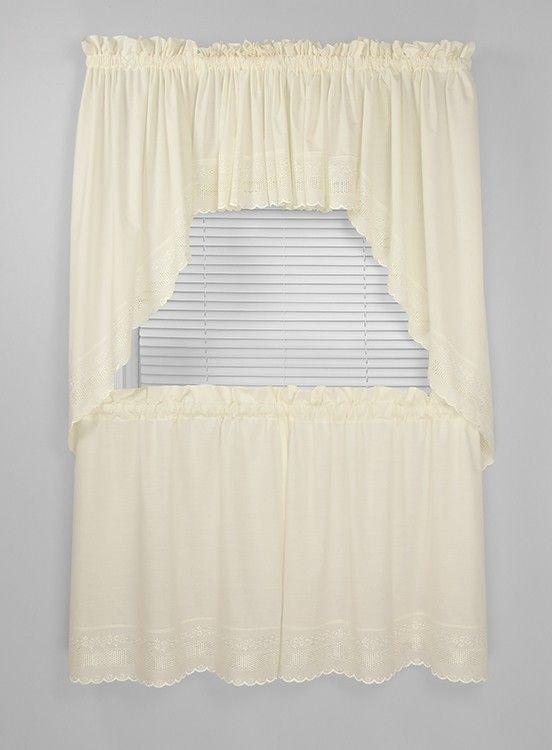 Danielle Eyelet Tier Curtain Curtain Bath Outlet Tier