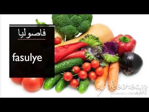 تعلم الخضار بلللغة تركية Vegetables Make It Yourself Tomato