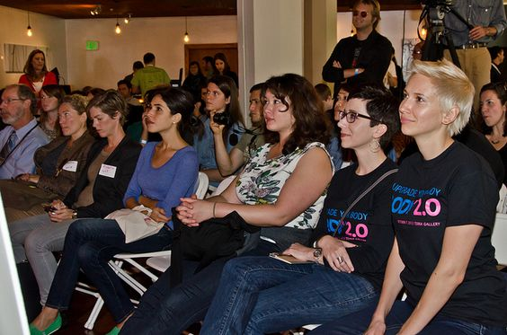Rapt attention from the audience at Body 2.0. Photo by Cheryl Hornbaker.