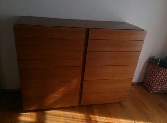 Mueble Cajonera En Madera De Teka Con Jaladeras