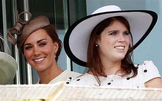 All smiles, the Duchess of Cambridge and Princess Eugenie